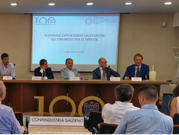 CONFINDUSTRIA SALERNO -100 ANNI - OPPORTUNITÀ DALL'EUROPA: GLI STRUMENTI PER LE IMPRESE