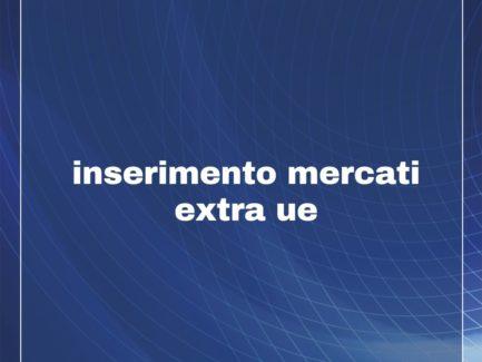INSERIMENTO MERCATI EXTRA UE