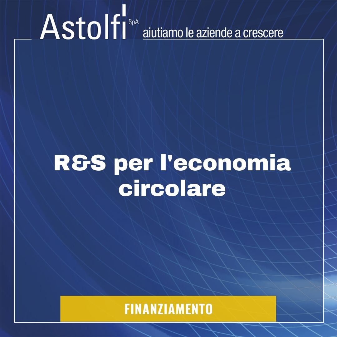 FINANZIAMENTO: progetti di R&S per l'economia circolare