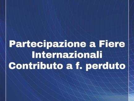 FINANZIAMENTO Regione UMBRIA - Fiere Italia ed Estero - Fondo Perduto